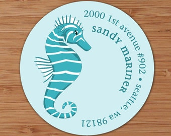 Seahorse -  Custom Address Labels or Stickers