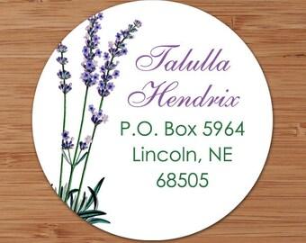 Lavender - Custom Address Labels or Stickers