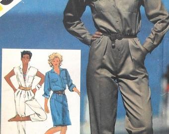 Retro Jumpsuit Sewing Pattern UNCUT Simplicity 6031 Size 10