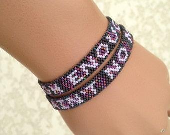 Ain't No Mountain High Enough - Ain't No Valley Low Enough - Two Bracelet Patterns - Peyote Patterns - Friendship Bracelet Patterns