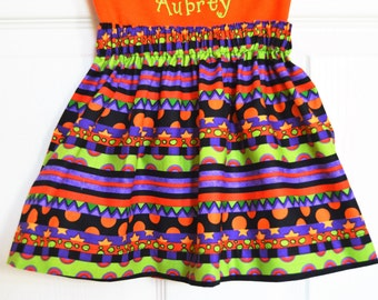 Multi Color Halloween Skirt