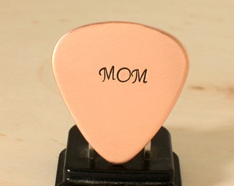 Guitar Pick in Copper for Rocking Moms, Mother's Day, or Celebrating Motherhood with an all Night Jam Session - GP931