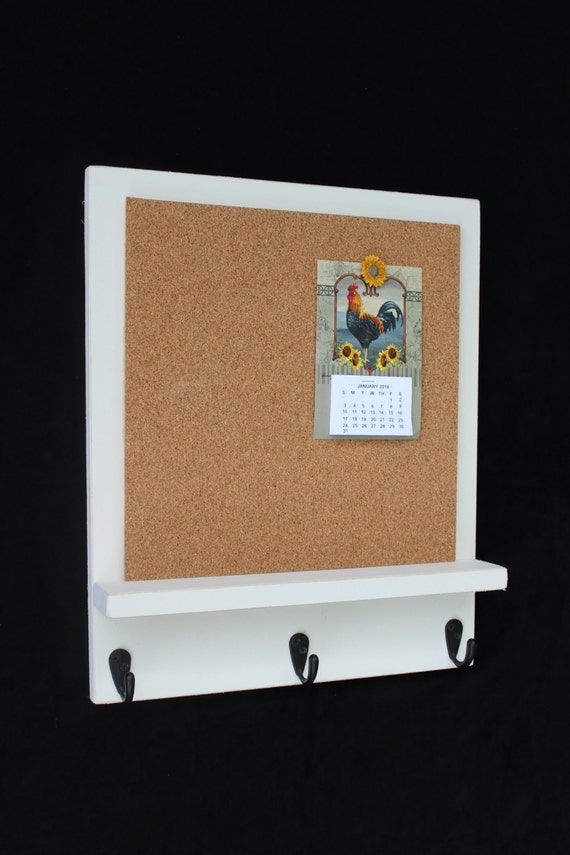 Cork Board Bulletin Board Message Board Key Hooks Key