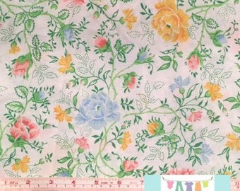 Vintage Green and Pink Floral Pillowcase