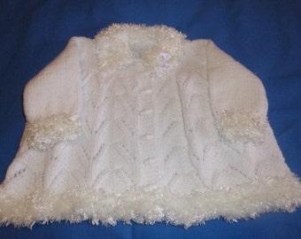 white fur trim winter  pram set