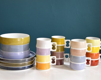Vintage 14 Piece Collection of German Block Chromatics Dishes
