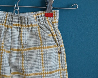 Vintage 1950s 1960s Toddler's Houndstooth Print Pants - Size 2T