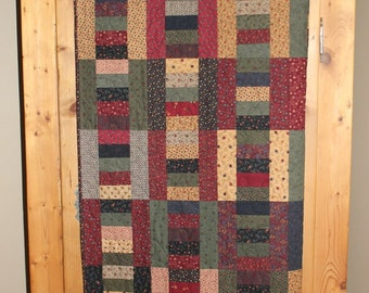 Layered Ladder quilted topper/lap quilt