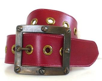 Vintage Advanced Styles Plastic Grommet Belt