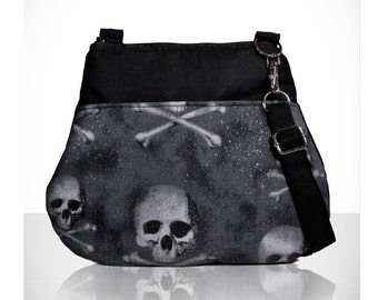Goth bag / Skull bag purse / skeleton bag / skeleton purse /unique goth purse / teenage girl gifts/Small crossbody bag/Item # CJF01-1008