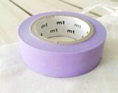 Solid Lavender Washi Tape Japanese Lavender masking tape  (186) - PrettyTape