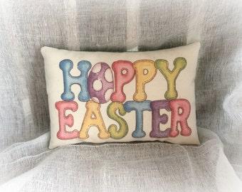 Happy Easter pillow | Easter decoration | Easter Basket stuffer