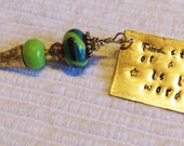 Metal Stamped, needlepoint phrases,  Lampwork beads, Keys, Scissors, Zipper Pull, Fob, Silver Hill Tribe beads, Valentines Day, Key Ring