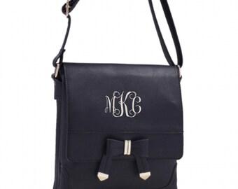 Monogrammed Black Shoulder/Crossbody Handbag Messenger bag Monogram Included