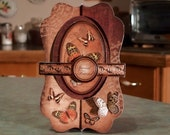 """Shaped Card - To a Very Special Friend - 5 3/4"""" x 11"""" - Duo-Spinner with Cigar Band - Beautiful Butterflies - Browns & Copper Foil Accents"""