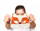 Fox Children Halloween Mask Kids Carnival Costume Accessory, Dress up Pretend Play Toy Gift for Girls Boys and Toddlers