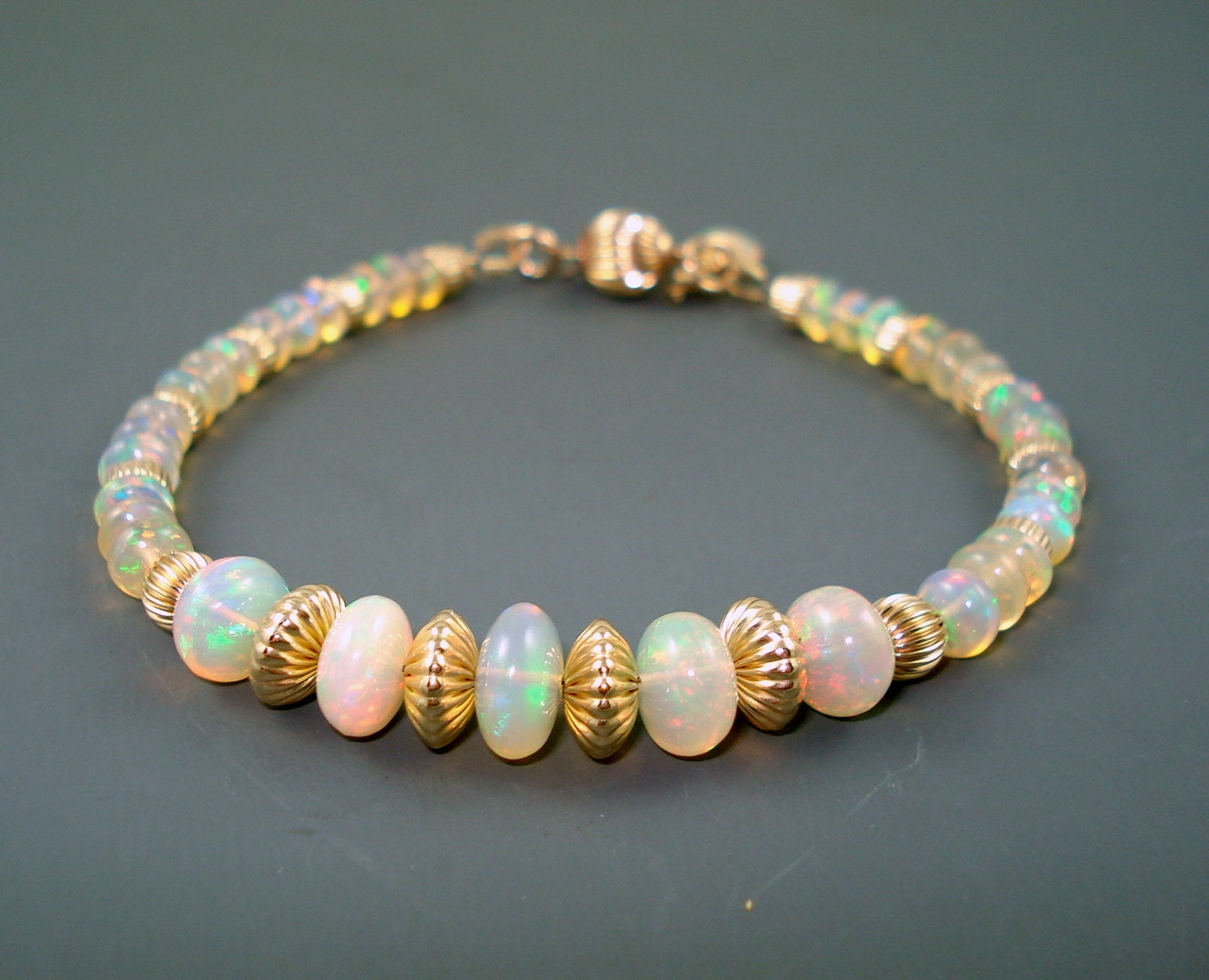 opal bracelet opals vermeil spacers and box