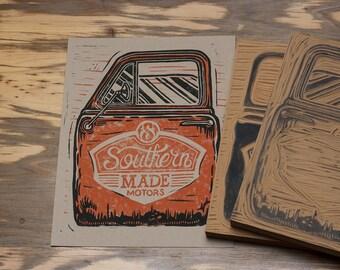 Southern Made Motors - Block Print