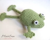 Crochet PATTERN PDF - Amigurumi Frog - crochet pattern, frog prince, amigurumi pattern, crochet frog, crochet animal, frog plush, softie