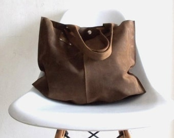 ON SALE Brown leather  bag - wonen leather bag - every day bag