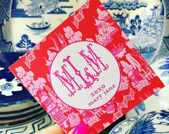 Valentine's chinoiserie gift tags