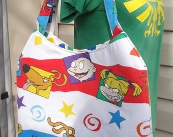 RugratsTote Bag OOAK   Tommie Chuckie Angelica Spike