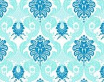 Waverly Aqua Damask 2 Fabric by the Yard BTY