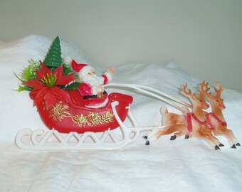 Plastic Santa Etsy