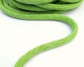 ON SALE Braided silk cord, 8mm bookbinding rope, green (1m)