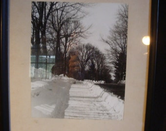 Snow covered country road Photograph