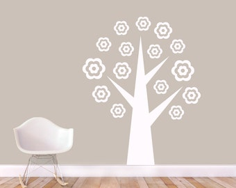 Flower Tree - Trees and Branches Nursery and Kid's Room Wall Decals