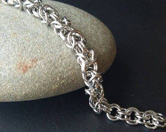 Stainless Byzantine Chainmaille Bracelet