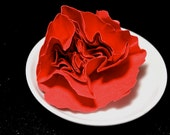 Red Rose - Red Paper Rose, No Stem - Realistic 3D Paper Flower Sculpture