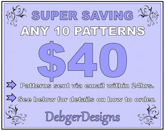 SUPER SAVING - 10 Pattern Tutorials for 40 Dollars