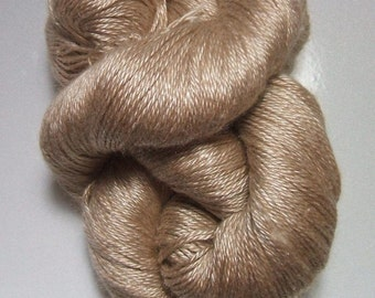 Silkamel 312 65% Silk 35 Baby Camel Hair Brown Yarn 100 gram Skein VERY SOFT