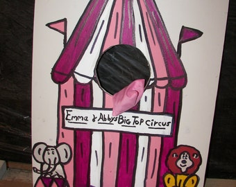 tent pink purple  and  white   circus  games with   4  bean bags