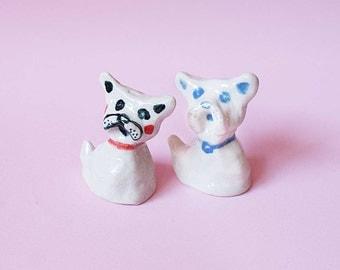 French Bulldog Sculpture, Hand-built Ceramic Miniature
