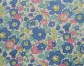 Liberty tana lawn printed in Japan - Betsy - Light navy green pink mix