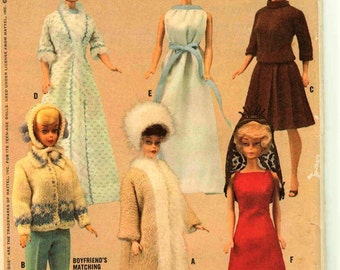 Barbie Midge doll Sewing and Knitting Pattern PDF download Fashion doll Teen doll 11.5 inches