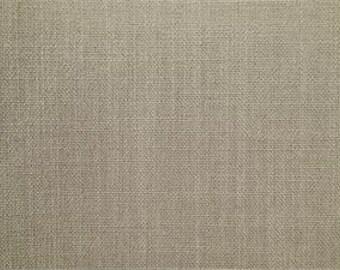 NATURAL grey beige woven LINEN blend upholstery fabric, 16-47-01-0714