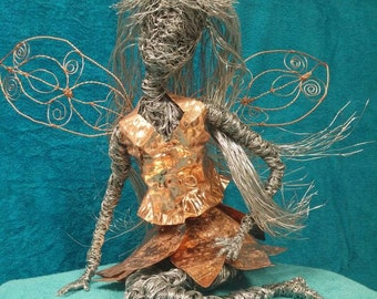 Sissy.....Large Wire Sculptured Fairy/Angel
