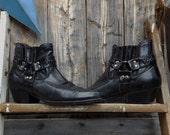 1990's, vegan biker boot,men's size 9