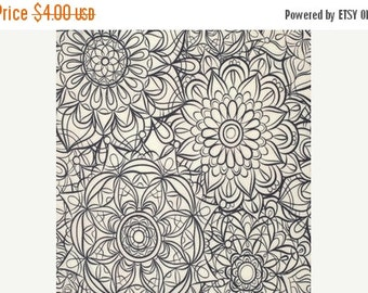 SuperBowl Sale Star Landing by Jeanean Morrison and freespirit fabrics, Flower Sketch in Shell 1/2 yard