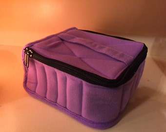 CRAZY SALE--ESSENTIAL OiLS Carrying Case-- Holds 30 5 or 15ml bottles-- lavender color
