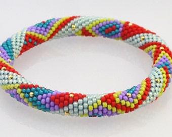 OSLO Bead Crochet Kit and Pattern for 2 Bracelets-Original color way