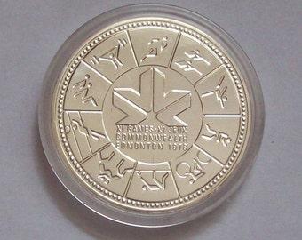 1978 Commonwealth Games Edmonton Canadian Silver Dollar