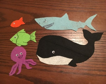 Slippery Fish Song Flannel Felt Story/Preschool//Language