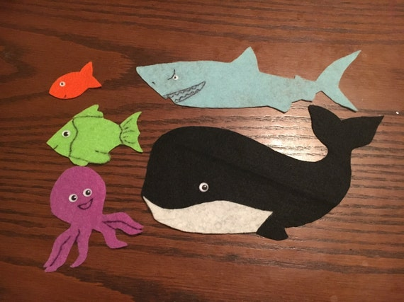 Slippery fish song flannel felt by sweetsue93 on etsy for Fish songs for preschoolers