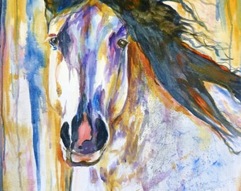 Large Original Horse Portrait by Maure Bausch