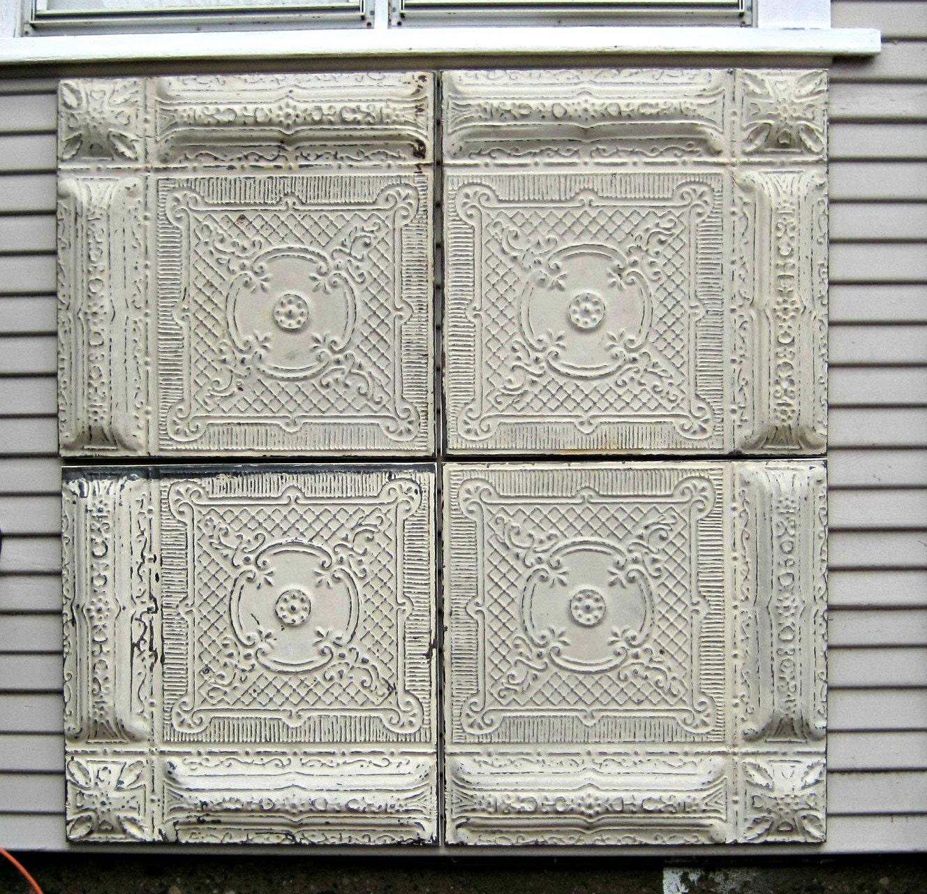 Set Framed Vintage Ceiling Tin Tiles Large Wall Decor
